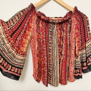 Off the Shoulder Colourful Shirt